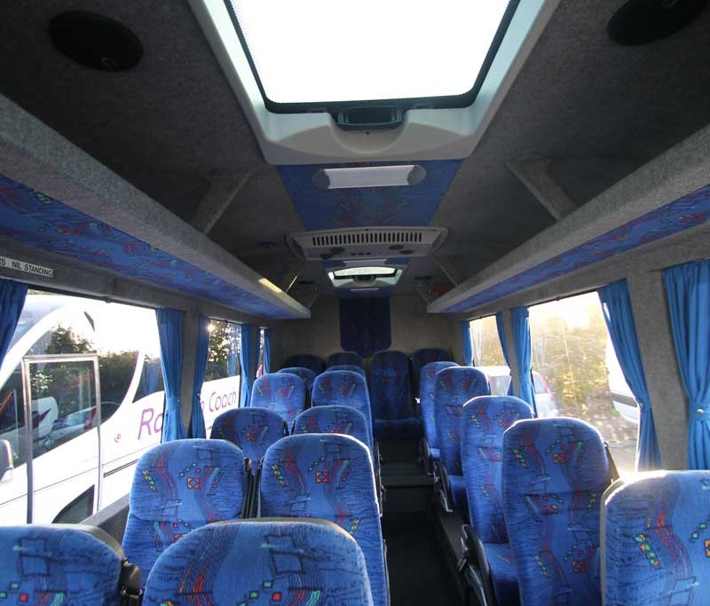 interior of 24 seater