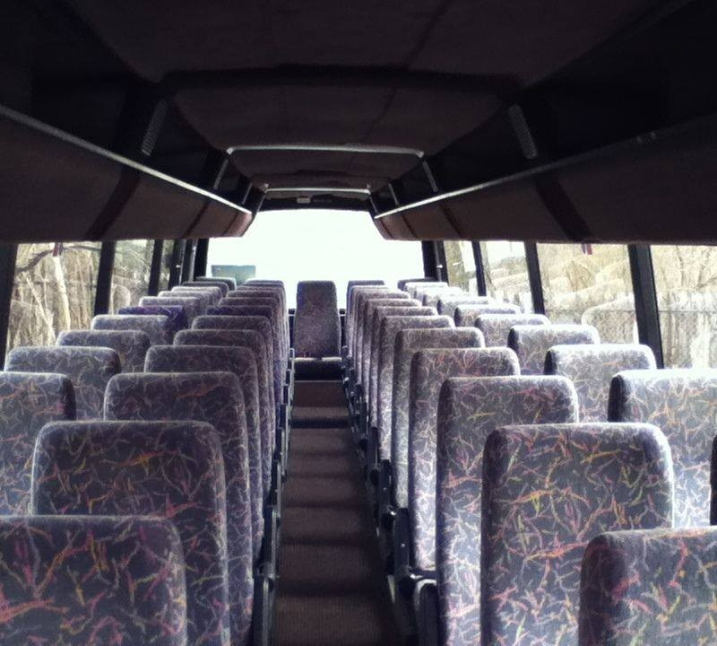 interior of 57 seater